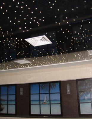 Купить натяжной потолок звездное небо в спальню