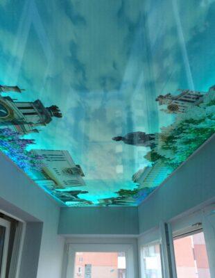 Натяжные потолки 3D для кухни