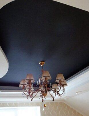 Заказать матовый цветной натяжной потолок для дачи
