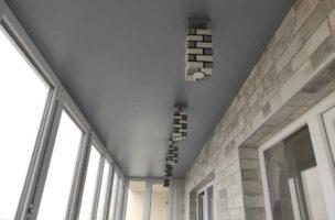 Цветной матовый натяжной потолок Pongs