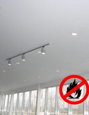 Противопожарные натяжные потолки на кухню
