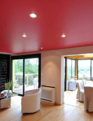 Заказать матовый цветной натяжной потолок в прихожую