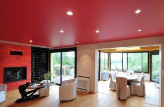 Матовые цветные потолки