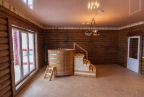 Установка противопожарных натяжных потолков в банном комплексе в Острогожском районе