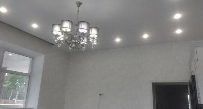 Установка натяжных потолков в частном доме в Ямном
