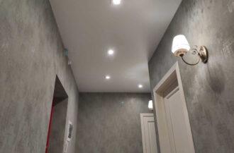 Матовые натяжные потолки MZD CLassic в коридор